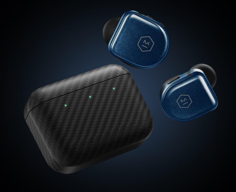 Master & Dynamic MW08 Sport Wireless Earphone Blue with Case
