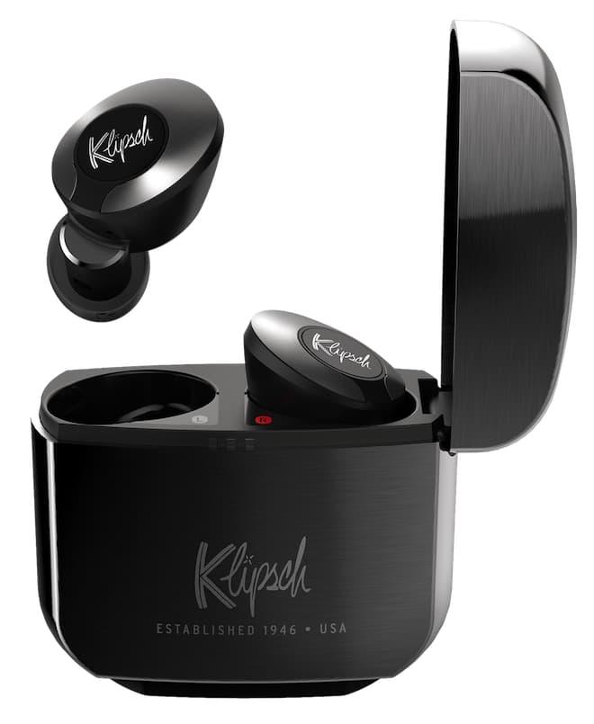 Klipsch T5 II True Wireless ANC Earphones Gunmetal in Charging Case