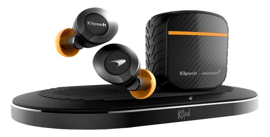 Klipsch T5 II True Wireless ANC Earphones McLaren Edition with Wireless Charging Pad