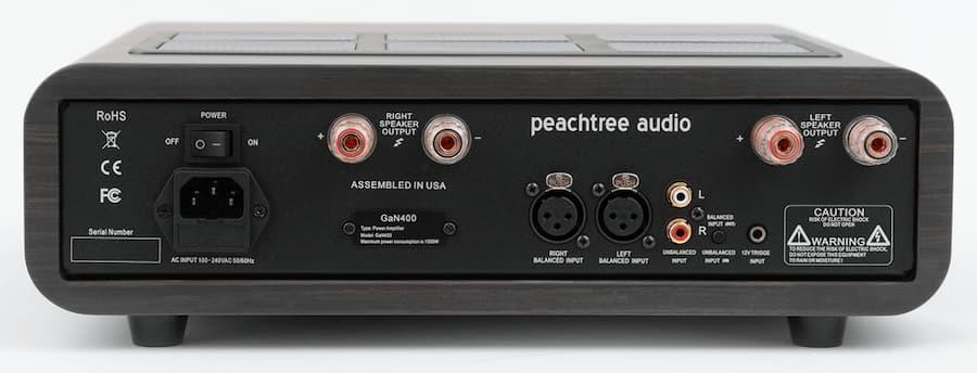 Peachtree Gan400 Amplifier Rear