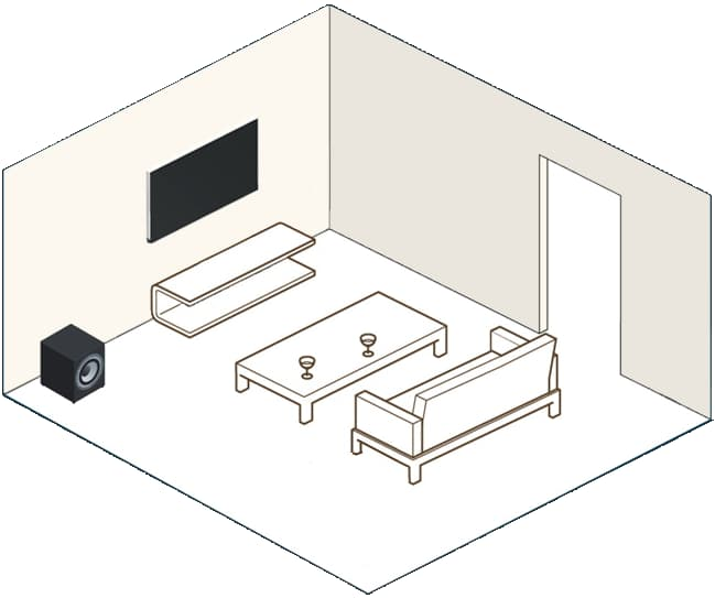 DTS Play-Fi with TV and Subwoofer
