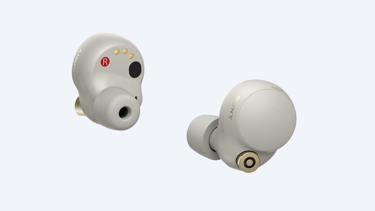 Sony WF-1000XM4 Wireless Earbuds Sand