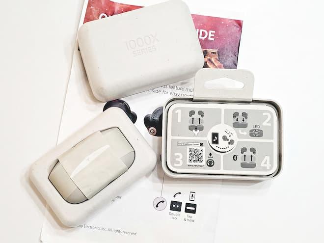 Sony WF-1000XM4 Wireless Earbuds Package Open