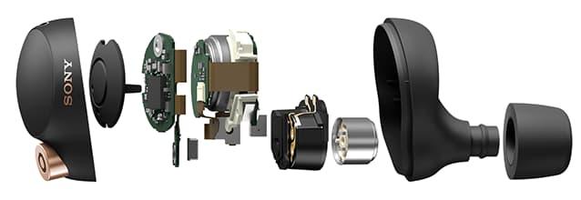 Sony WF-1000XM4 Wireless Earbuds Parts Exploded