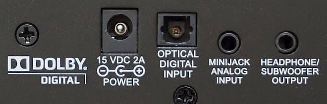 ZVOX AV357 ports