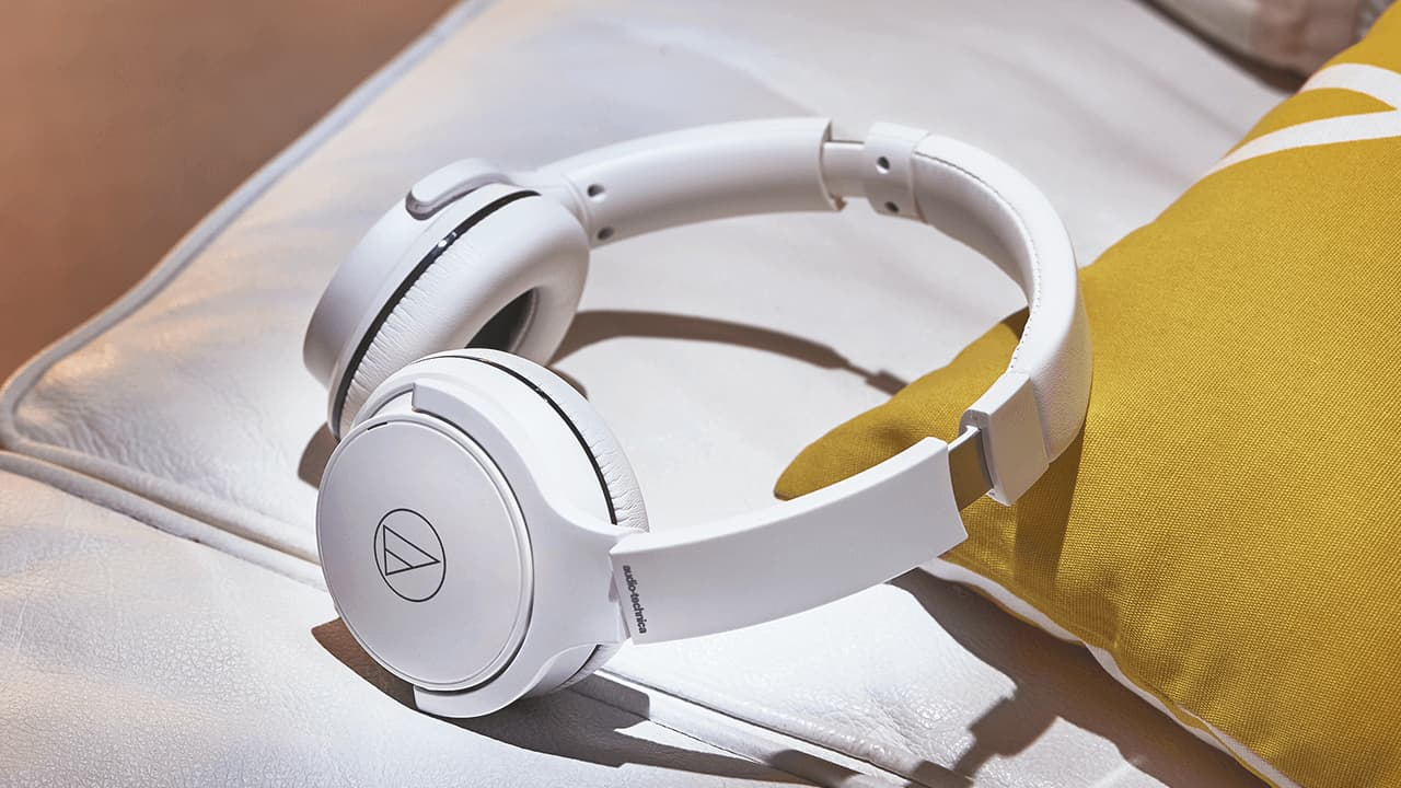 Audio-Technica ATH-S220BT Wireless On-Ear Headphones Lifestyle in White