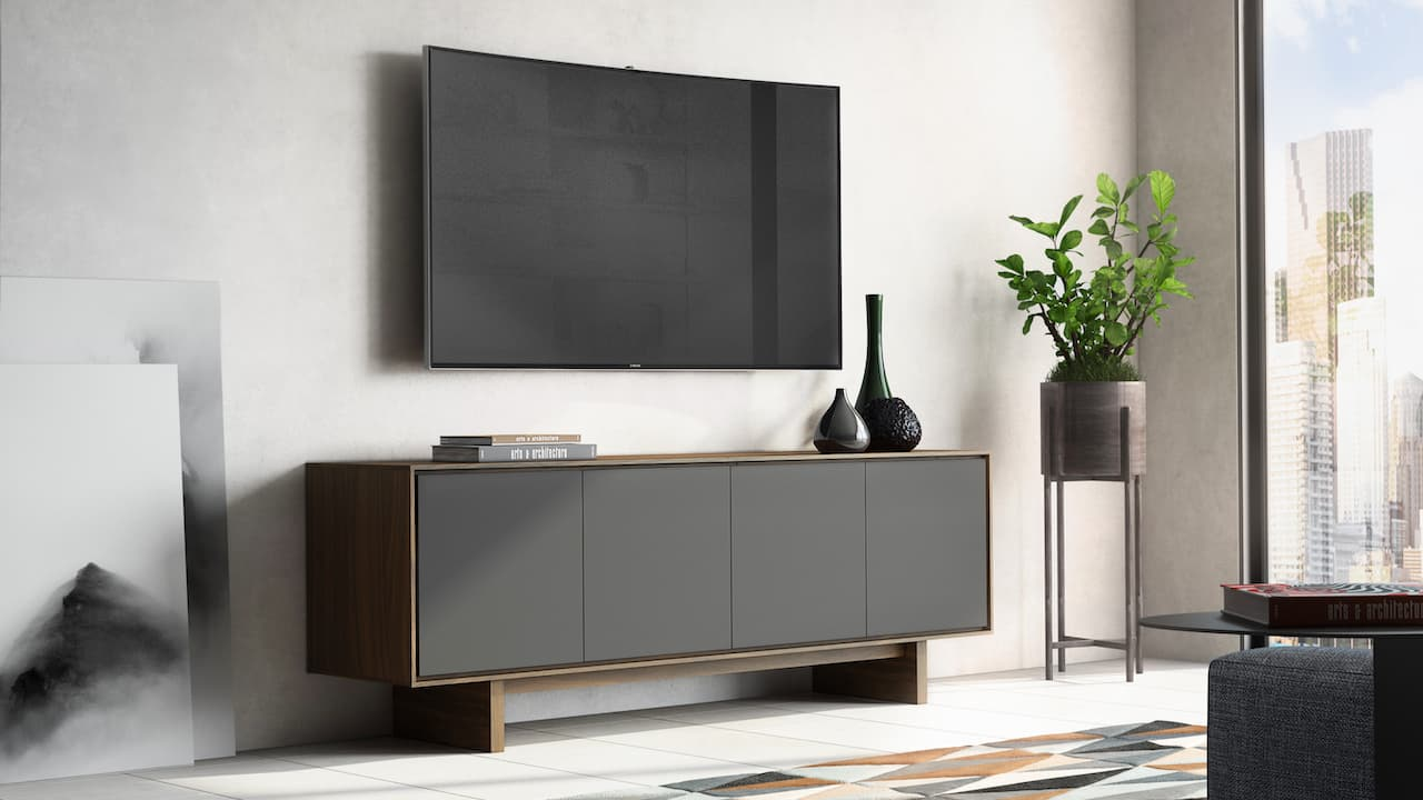 BDI Octave 8379 Media Cabinet in Toasted Walnut Lifestyle