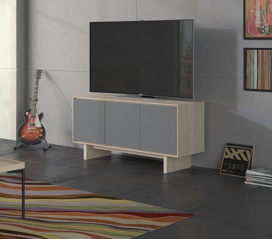BDI Octave 8377 Media Cabinet in Drift Oak Lifestyle