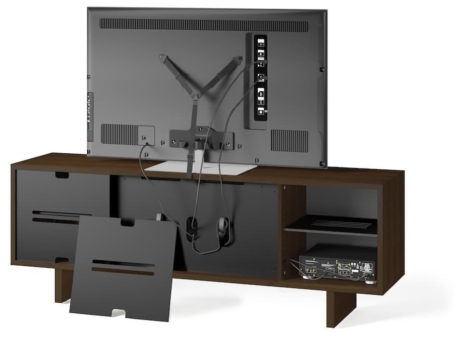 BDI Octave 8379 Media Cabinet in Toasted Walnut Rear