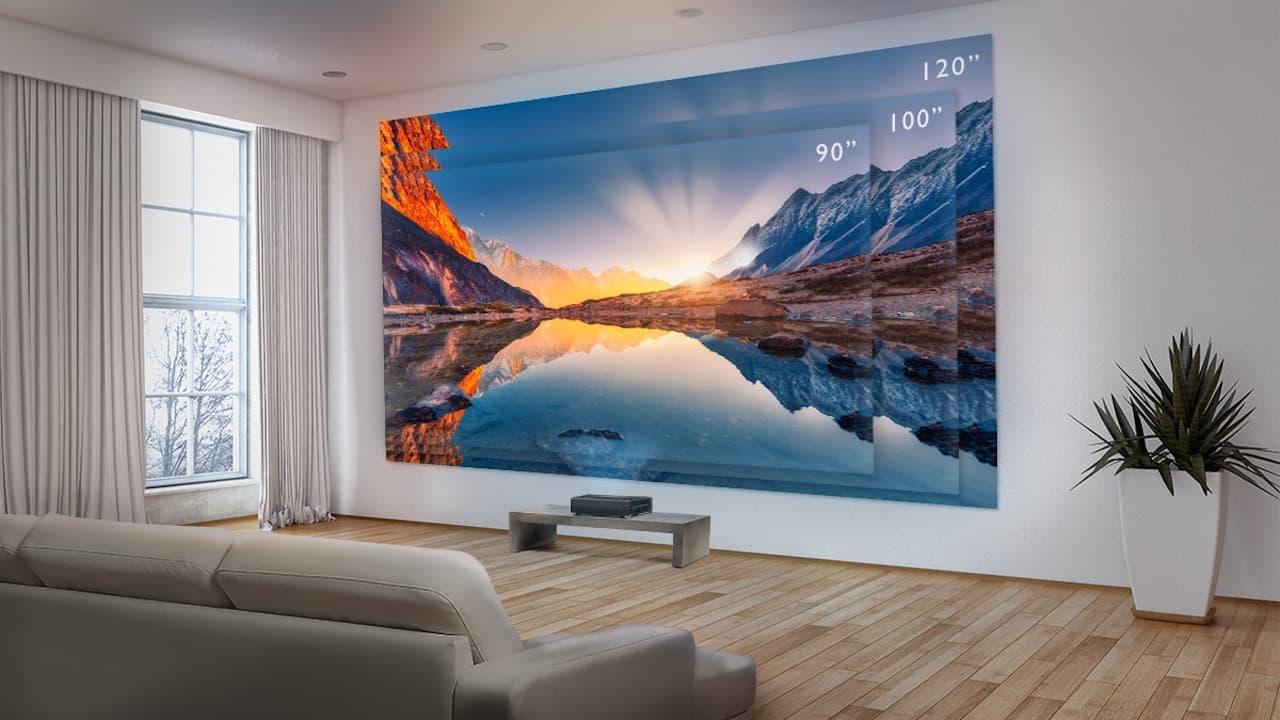 BenQ V7050i Laser TV Projector Lifestyle