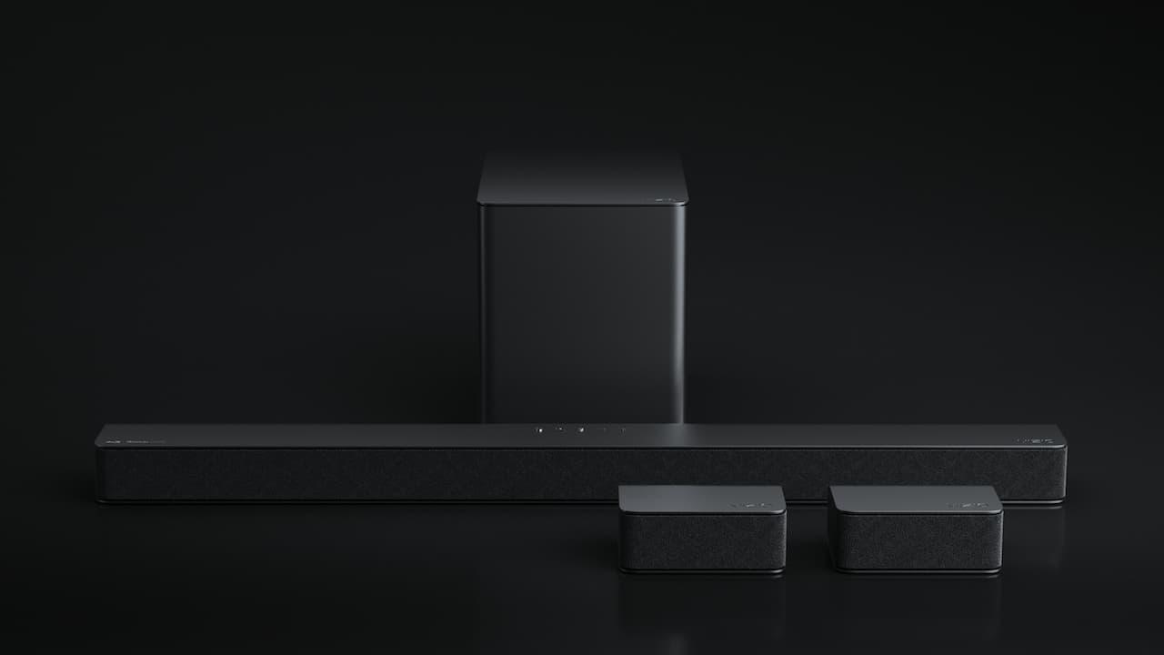 Vizio M51ax-J6 Sound Bar Surround on Black Background