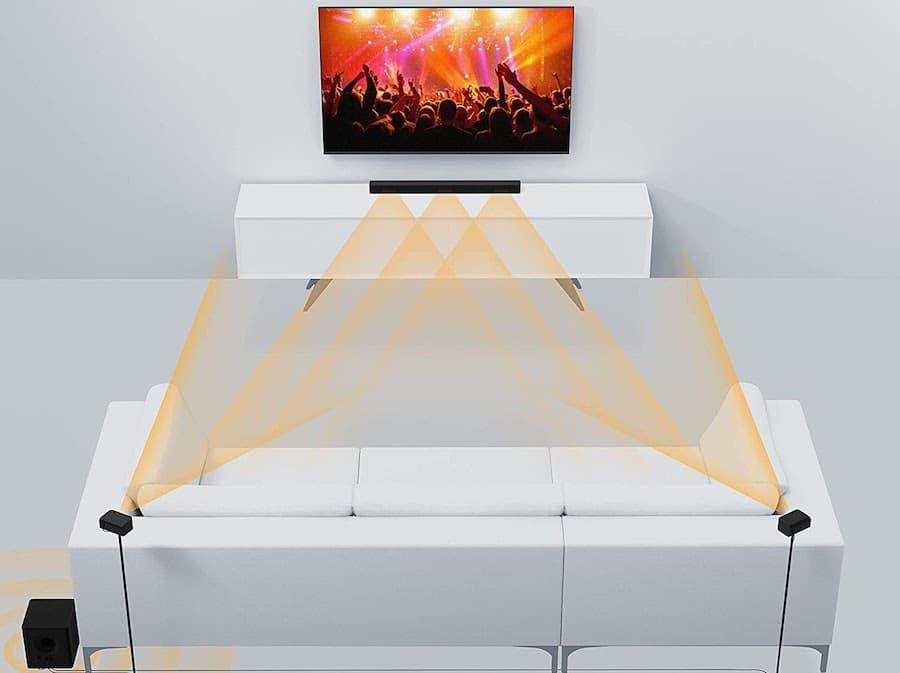 Vizio M51ax-J6 Sound Bar Dual Surround Mode