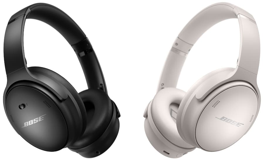 Bose QuietComfort 45 Wireless Noise-cancelling Headphones in Black and White