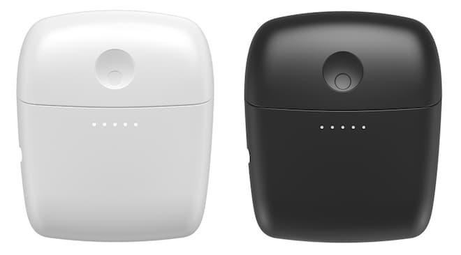 Cambridge Audio Melomania 1+ Wireless Earbud Cases in white and black