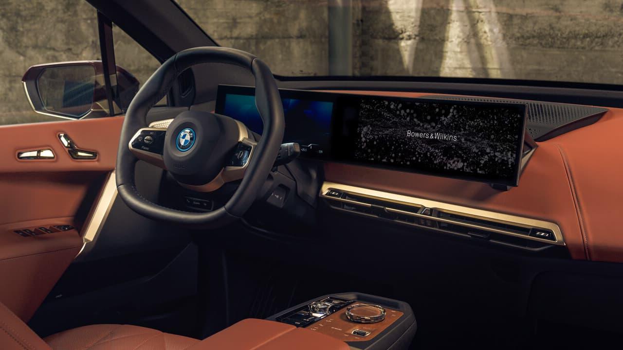 BMW iX Interior with Bowers & Wilkins Car Audio System