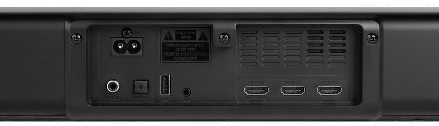 Monoprice SB-300 Soundbar Rear Inputs
