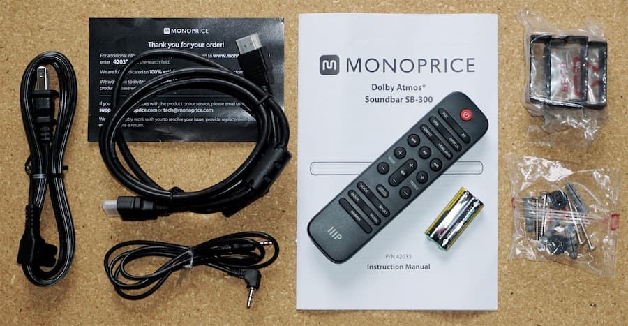 Monoprice SB-300 Soundbar Accessories