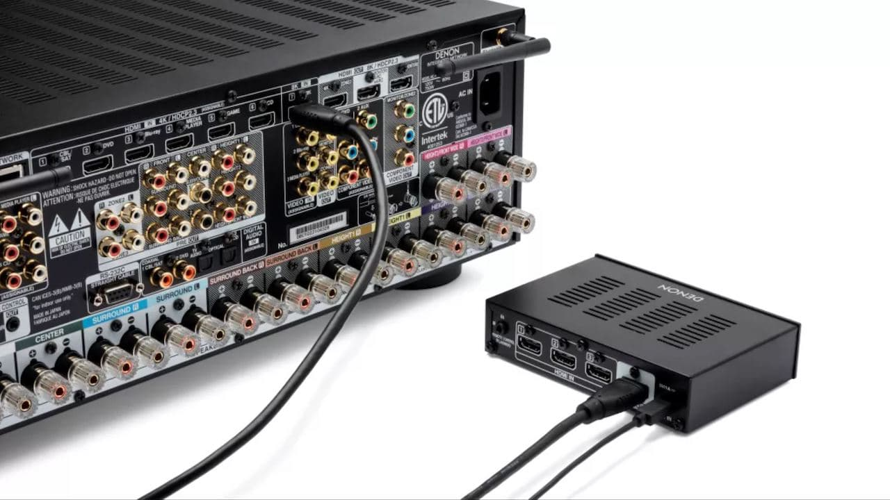 Denon AVS-3 HDMI Switcher Hooked Up to A/V Receiver