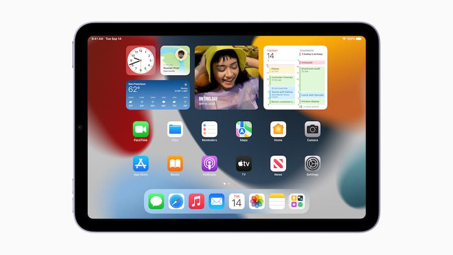 Apple iPad mini 2021 Homescreen