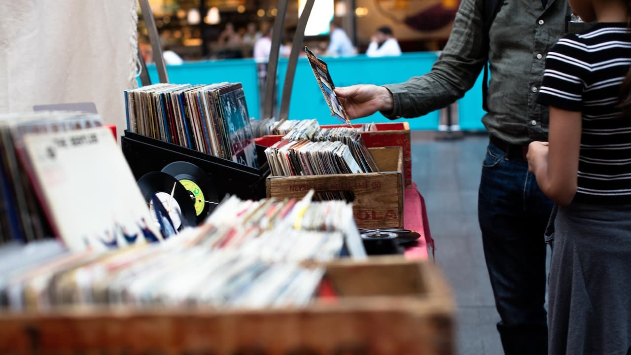 Browsing Vinyl Records