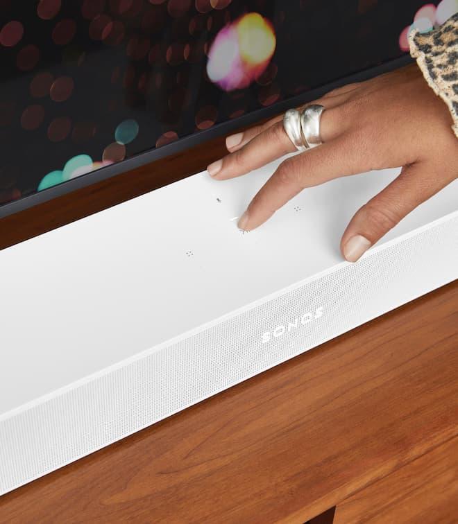 Sonos Beam 2 Soundbar White Top Controls