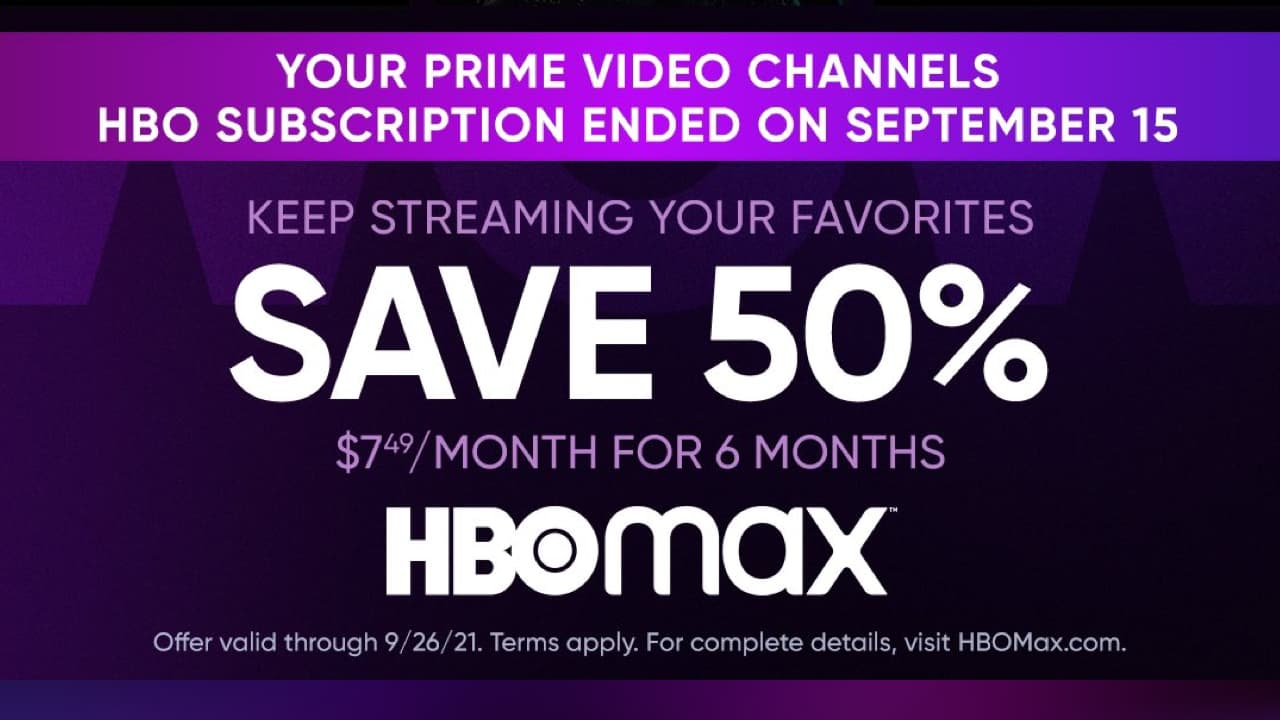 HBO Max Save 50%