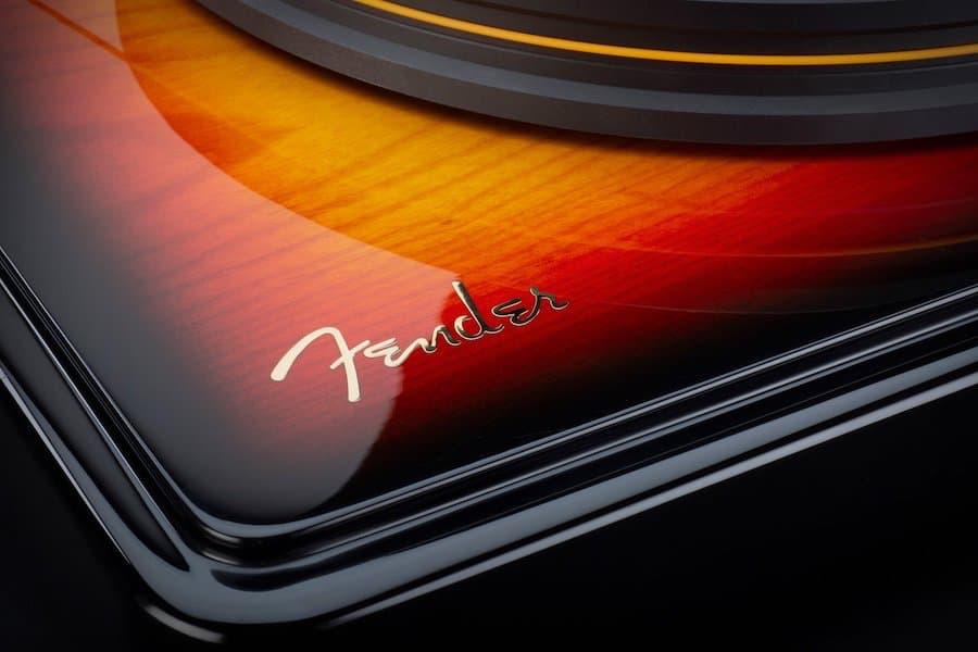 Fender logo on MoFi PrecisionDeck Limited Edition Turntable