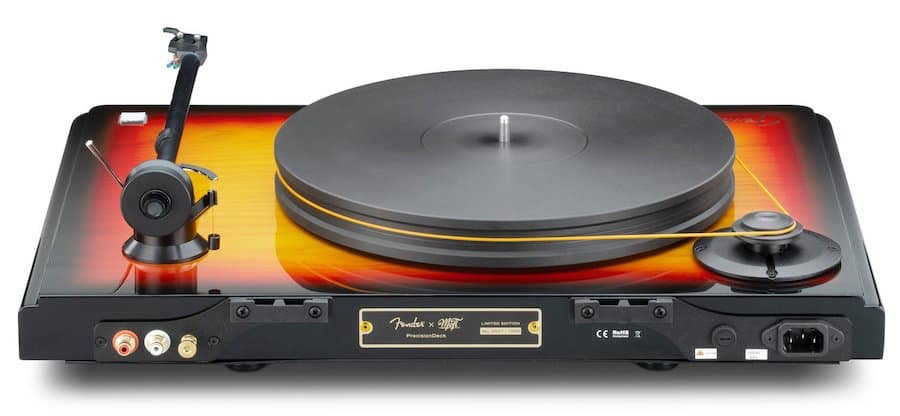 MoFi Fender PrecisionDeck Limited Edition Turntable Rear