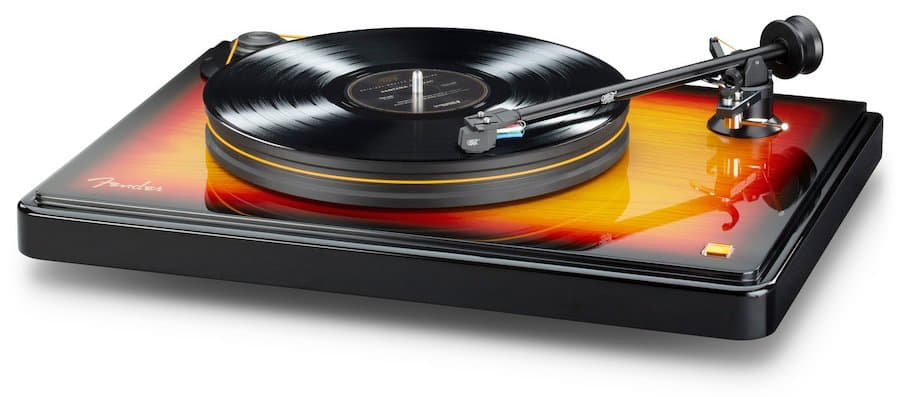 MoFi Fender PrecisionDeck Limited Edition Turntable Front Angle