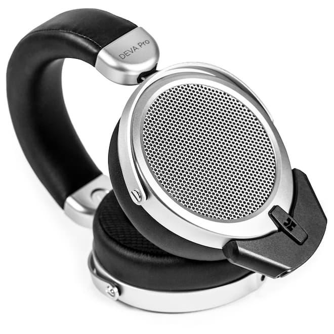 HiFiMAN DEVA Pro Wireless Headphones with Bluemini connected tilted