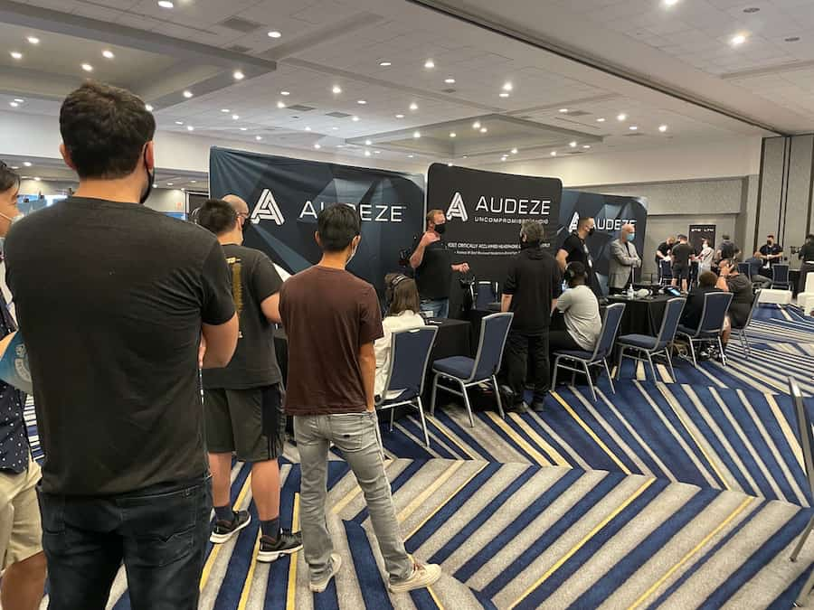 CanJam SoCal 2021 Line for Audeze LCD-5