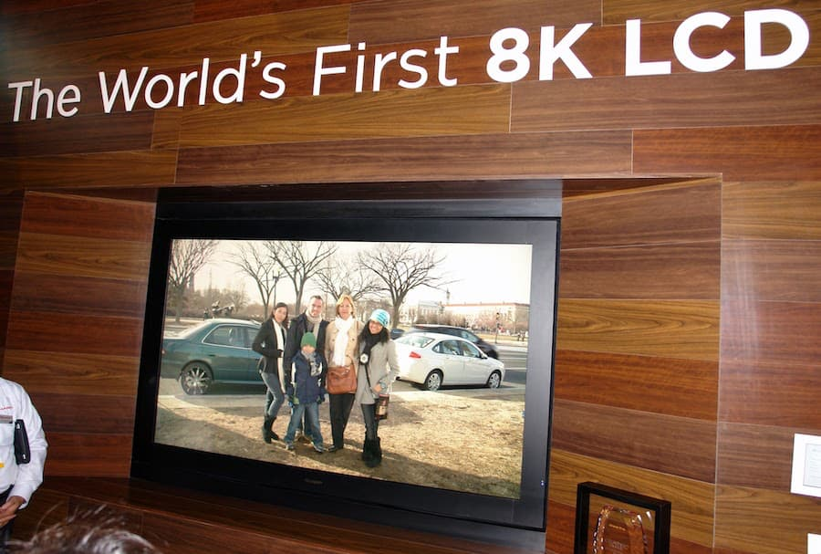 Sharp 8K TV Prototype CES 2012