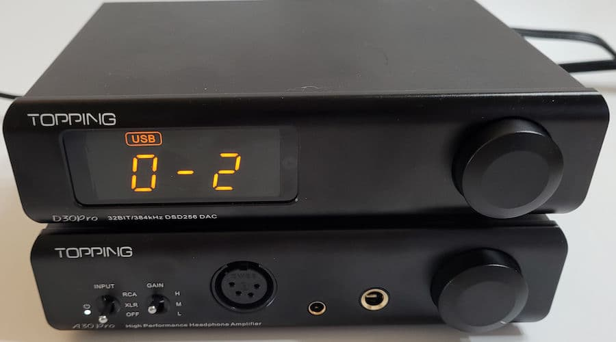 Topping D30Pro DAC and A30Pro Headphone Amplifier Settings