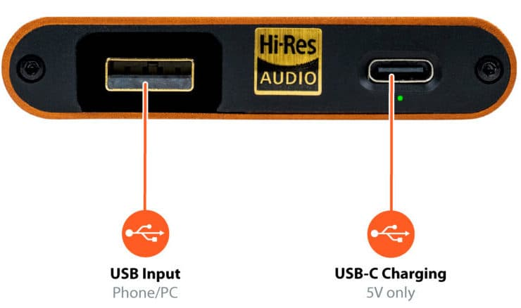 iFi hip-dac2 Connections Back