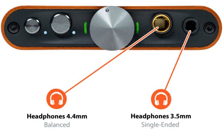 iFi hip-dac2 Connections Front