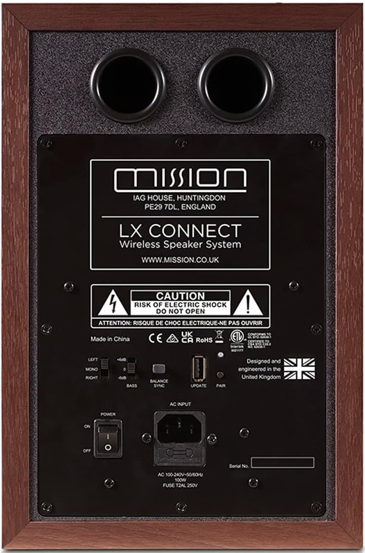 Mission LX Connect Wireless Speaker Walnut Rear