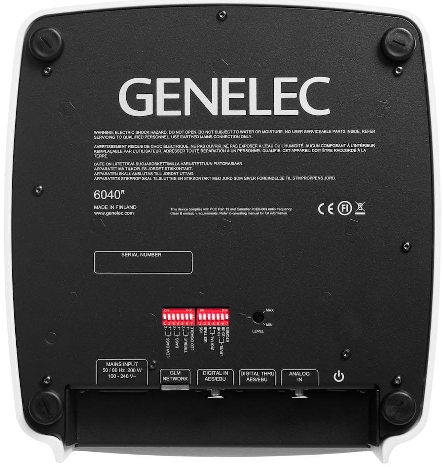 2021 Genelec 6040R Rear Speaker Bottom Dip Switches