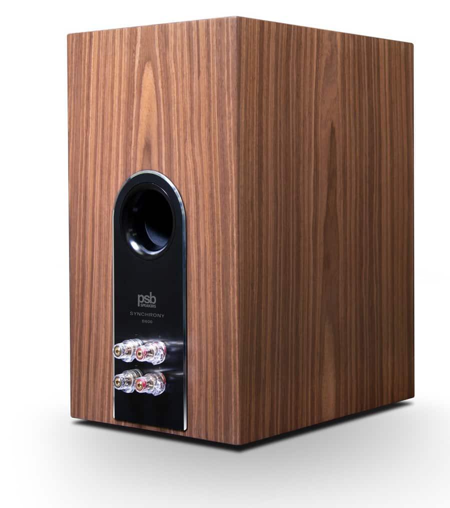 PSB Speakers B600 Bookshelf Loudspeaker Walnut Rear