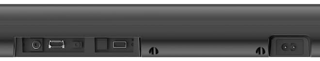Hisense HS212F Soundbar Rear Inputs