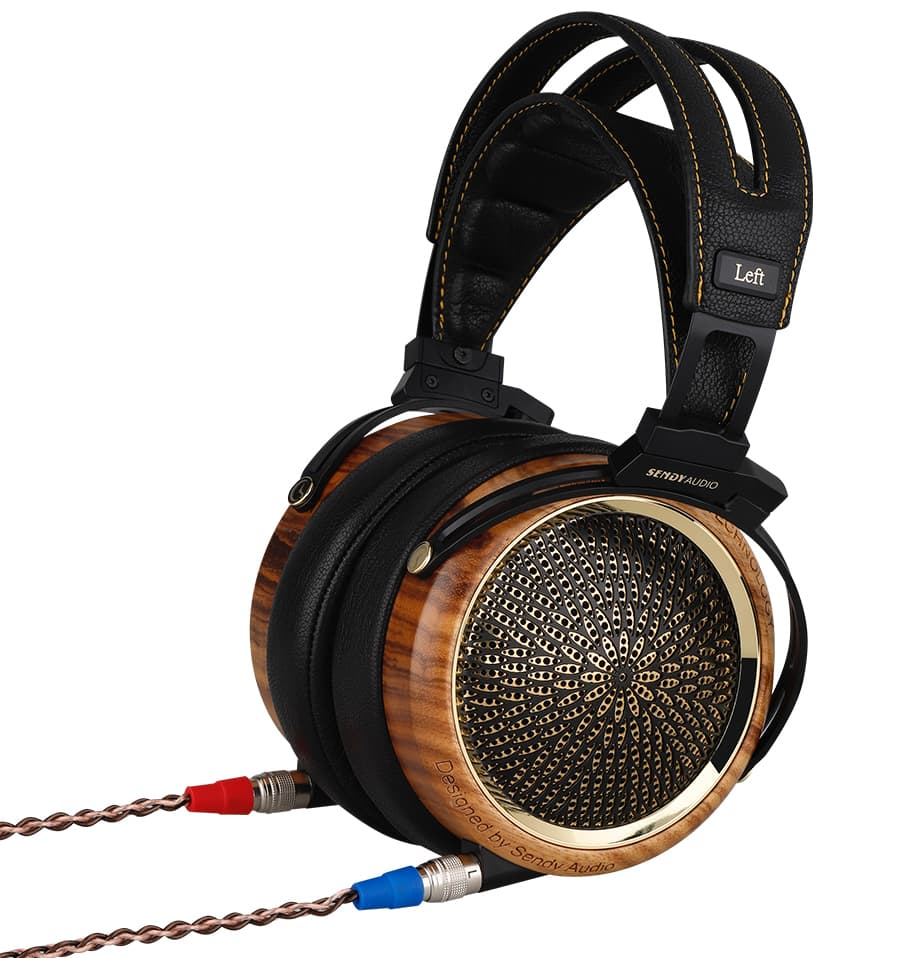 Sendy Audio Peacock Headphones with Cables Connected