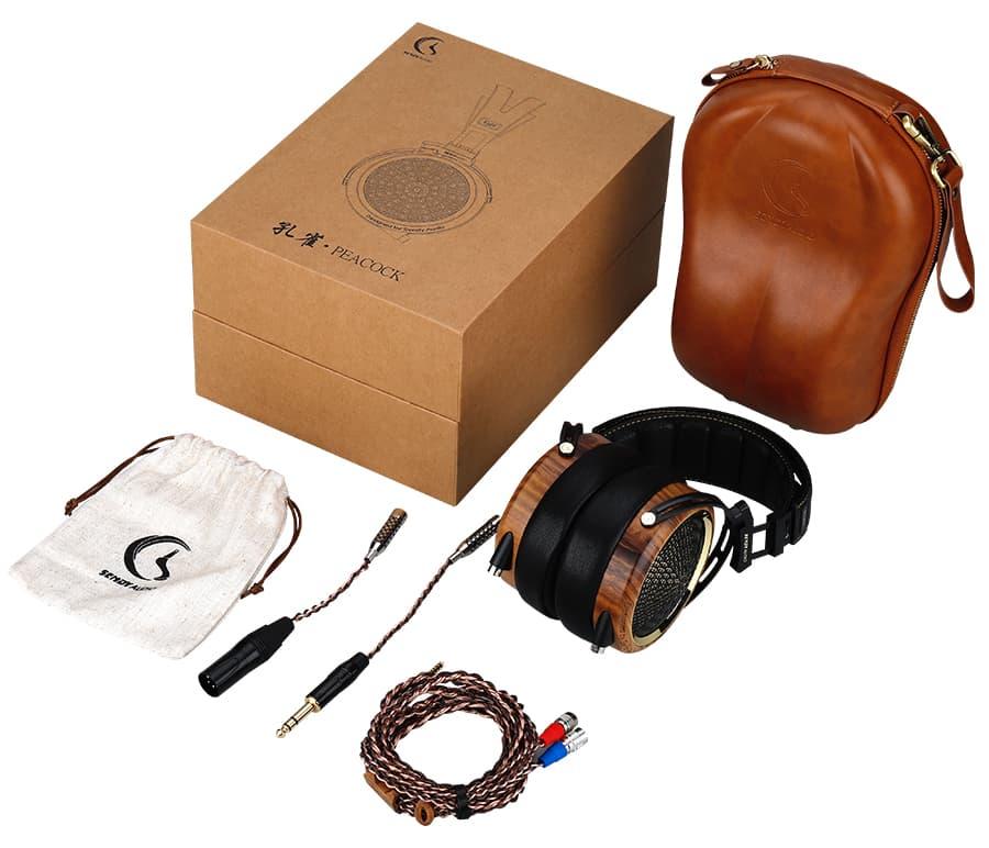 Sendy Audio Peacock Headphones Box Contents