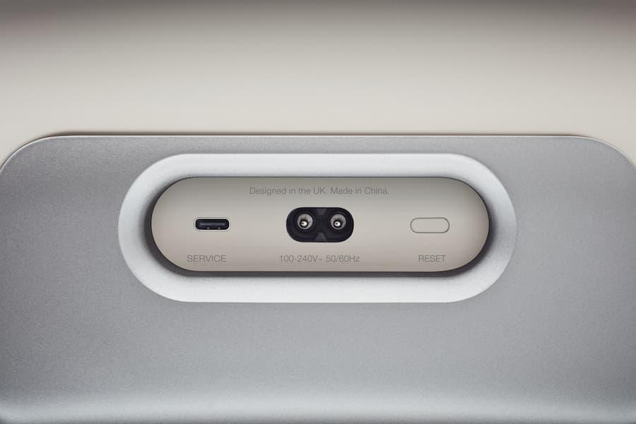 Bowers & Wilkins Zeppelin Wireless Speaker Pearl Grey Rear Inputs