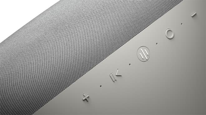 Bowers & Wilkins Zeppelin Wireless Speaker Pearl Grey Top Buttons