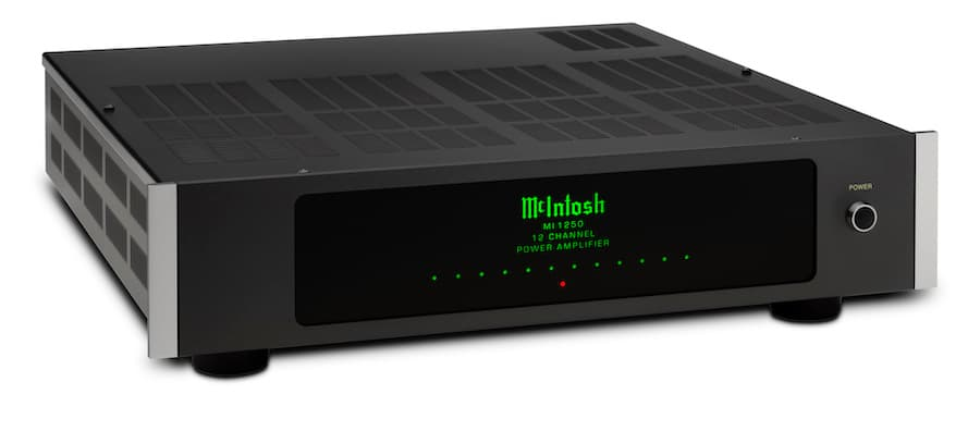 McIntosh MI1250 12-Channel Power Amplifier Front Angle