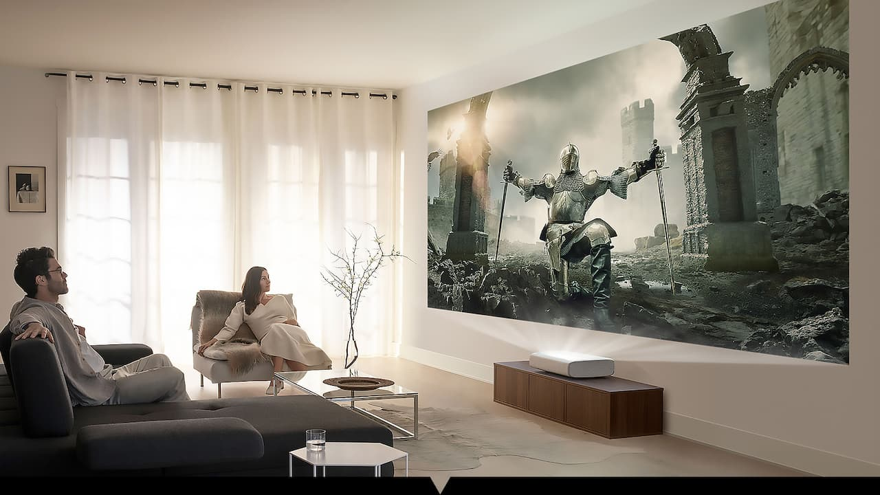 Samsung The Premiere LSP9T Ultra-short Throw Projector Lifestyle