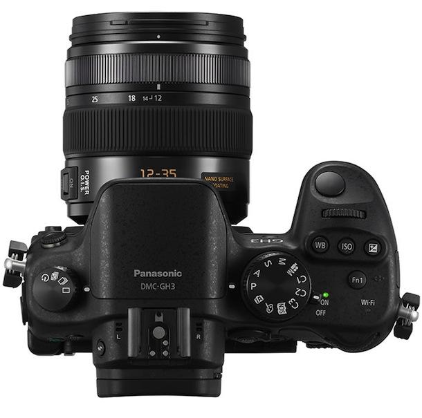 Panasonic DMC-GH3 - top