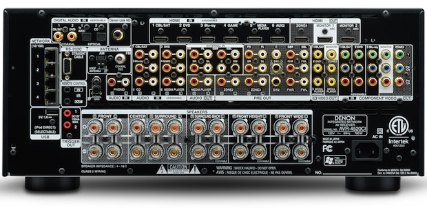 Denon AVR-4520CI - back
