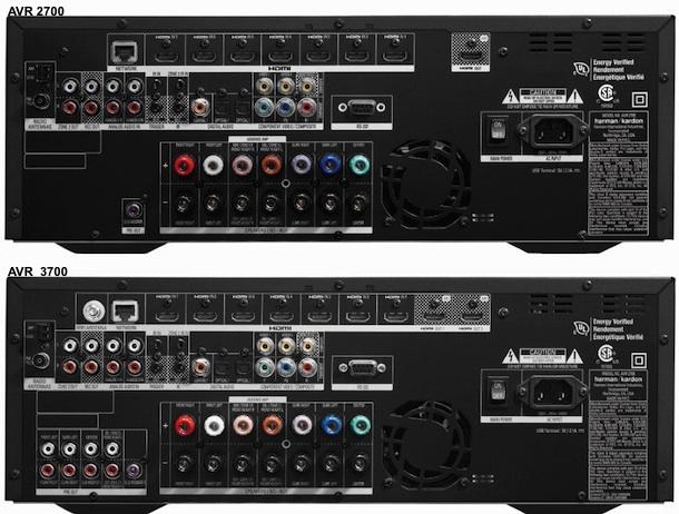AVR2700 and AVR3700 - back