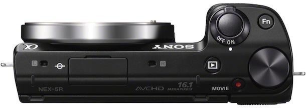 Sony NEX-5r - top