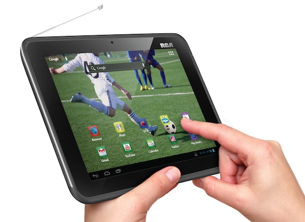 RCA Mobile TV Tablet in hand
